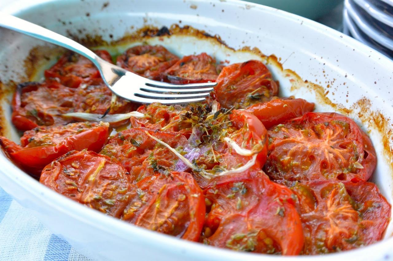 Pomodori arrosto super saporiti | EPPUR NON C'E'